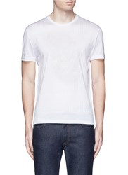 Alexander Mcqueen Skull Stitch Embroidery T Shirt White