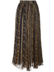 Mes Demoiselles Pleated Skirt Brown