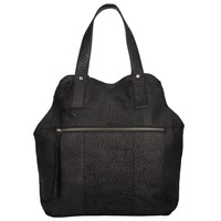 Pieces Paula Leather Tote Bag Black