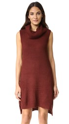Bb Dakota Brandy Turtleneck Sweater Dress Redwood