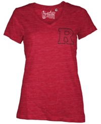 Royce Apparel Inc Women's Rutgers Scarlet Knights Logo T Shirt Red