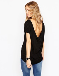 Asos T Shirt With Scoop Back Black