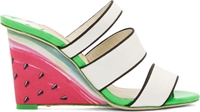 Sophia Webster White Brooke Watermelon Wedge Sandals