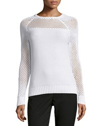 Todd And Duncan Open Stitch Cashmere Blend Sweater White