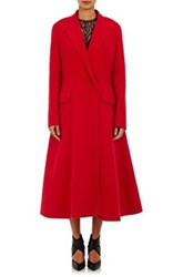Lanvin Women's Fit And Flare Coat Red