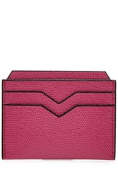 Valextra Leather Card Holder Pink