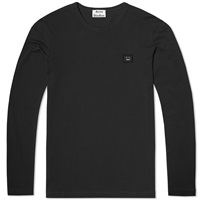 Acne Studios Long Sleeve Tage Face Tee Black