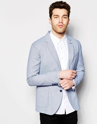 United Colors Of Benetton Dogtooth Blazer In Regular Fit Blue901