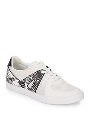 Dolce Vita Xylia Leather Trimmed Sneakers Black White