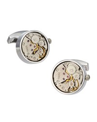 Jan Leslie Watch Movement Cuff Links Silver