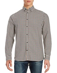 Selected Checkered Sportshirt White Blue