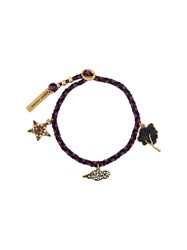 Marc Jacobs 'Tree' Friendship Bracelet Pink And Purple