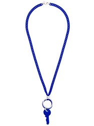 Maison Martin Margiela Mm6 Key Necklace Blue