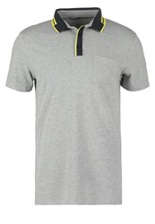 Kiomi Polo Shirt Light Grey Melange Mottled Grey