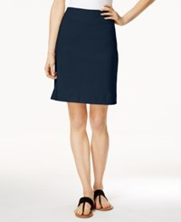 Charter Club Pull On Skort Only At Macy's Intrepid Blue