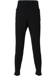 Label Under Construction Punched Thermal Trousers Black