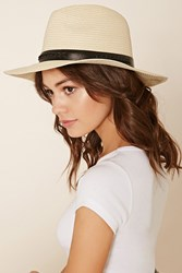 Forever 21 Stitched Straw Fedora
