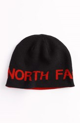 The North Face Men's Reversible Beanie Black Black Red