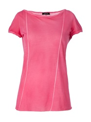Avant Toi Round Neck T Shirt Pink And Purple
