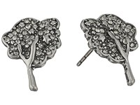 Marc Jacobs Charms Pave Tree Studs Earrings Black Diamond Antique Silver Earring