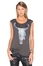 Chaser Golden Skull Tank Charcoal