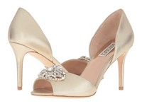 Badgley Mischka Dana Ii Platino Metallic Suede Women's Dress Sandals