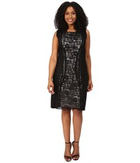 Nic Zoe Plus Size Layered Lace Dress Black Onyx Women's Dress
