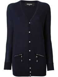 Dsquared2 Long Pullover Cardigan Blue