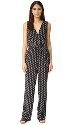 Cupcakes And Cashmere Chanelle Printed Jumpsuit Ditsy Geo