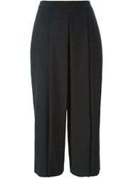 Alexander Wang Cropped Wide Leg Trousers Black