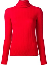Creatures Of The Wind 'Kivi' Turtleneck Jumper Red