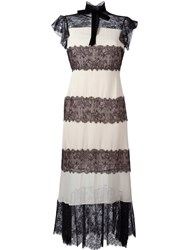 Philosophy Di Lorenzo Serafini Lace Panels Mid Length Dress Pink And Purple
