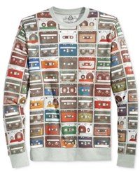 American Rag Men's Mix It Up Graphic Print Sweatshirt Only At Macy's Pewter Heather