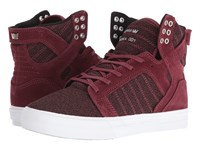 Supra Skytop Burgundy Suede White Women's Skate Shoes