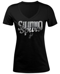 5Th And Ocean Women's San Antonio Spurs Foil Jam T Shirt Black