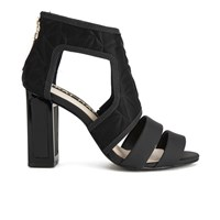 Kat Maconie Women's Georgia Leather Cut Out Heeled Sandals Black