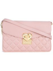 Love Moschino Quilted Crossbody Bag Pink And Purple