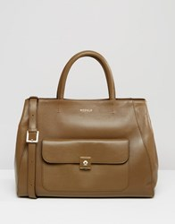 Modalu Leather Large Tote Bag Moss Green