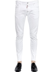 Dsquared 16Cm Sexy Twist Stretch Denim Jeans White