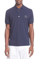 Men's Paul And Shark Stripe Pique Stretch Cotton Polo