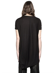 Tom Rebl Draped Back Panel Cotton And Modal T Shirt