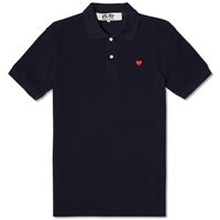 Comme Des Garcons Play Little Red Heart Polo Navy