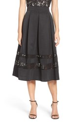 Eliza J Women's Lace And Taffeta Ball Skirt Black