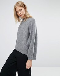 Native Youth Cocoon Minimal Jumper Grey