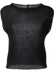 Eleventy Knitted Top Black