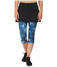 Skirt Sports Lotta Breeze Capri Stargaze Print Black Women's Skort Blue