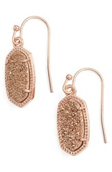 Kendra Scott Women's 'Lee' Small Drop Earrings Multi Drusy Rose Gold