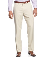Haggar Straight Fit Eclo Mini Plaid Dress Pants