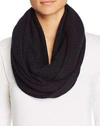 Bloomingdale's C By Cashmere Solid Loop Scarf Black