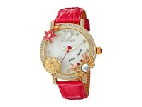 Betsey Johnson Bj00446 04 Sea Critters Pink Silver Watches